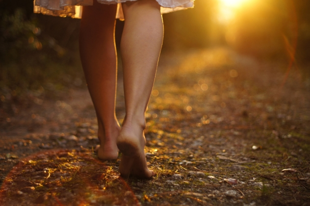 Image result for picture of a womanwalking the path of righteousness
