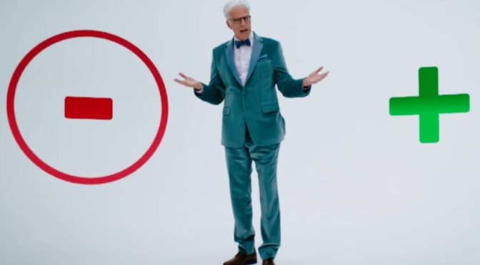"""Engaging with a Forked Up Society: """"The Good Place"""" vs """"Civil Disobedience"""""""